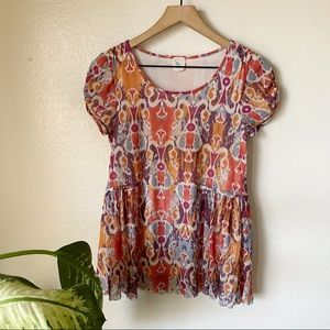 Anthropologie   Sprouted Peplum Top
